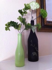 St Patty's day vases