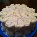 diaper cake bottom layer