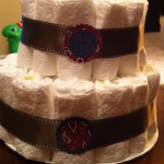 Diaper Cake close up