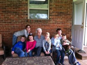 Grandma and her 7 great grandchildren