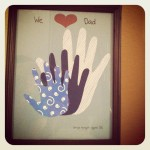 Father's Day Handprint Photo