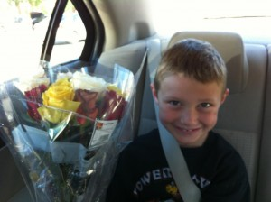 Kennyth and yellow roses
