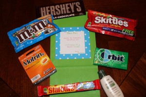 Back to School Survival Kit contents