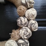 burlap wreath closeup