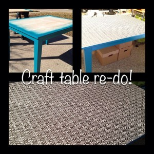 Craft Table Re-do