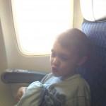 Jayson on the plane