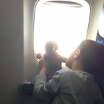 Jayson showing Monkey the clouds