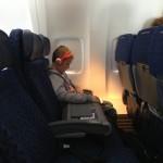 Kennyth on the plane