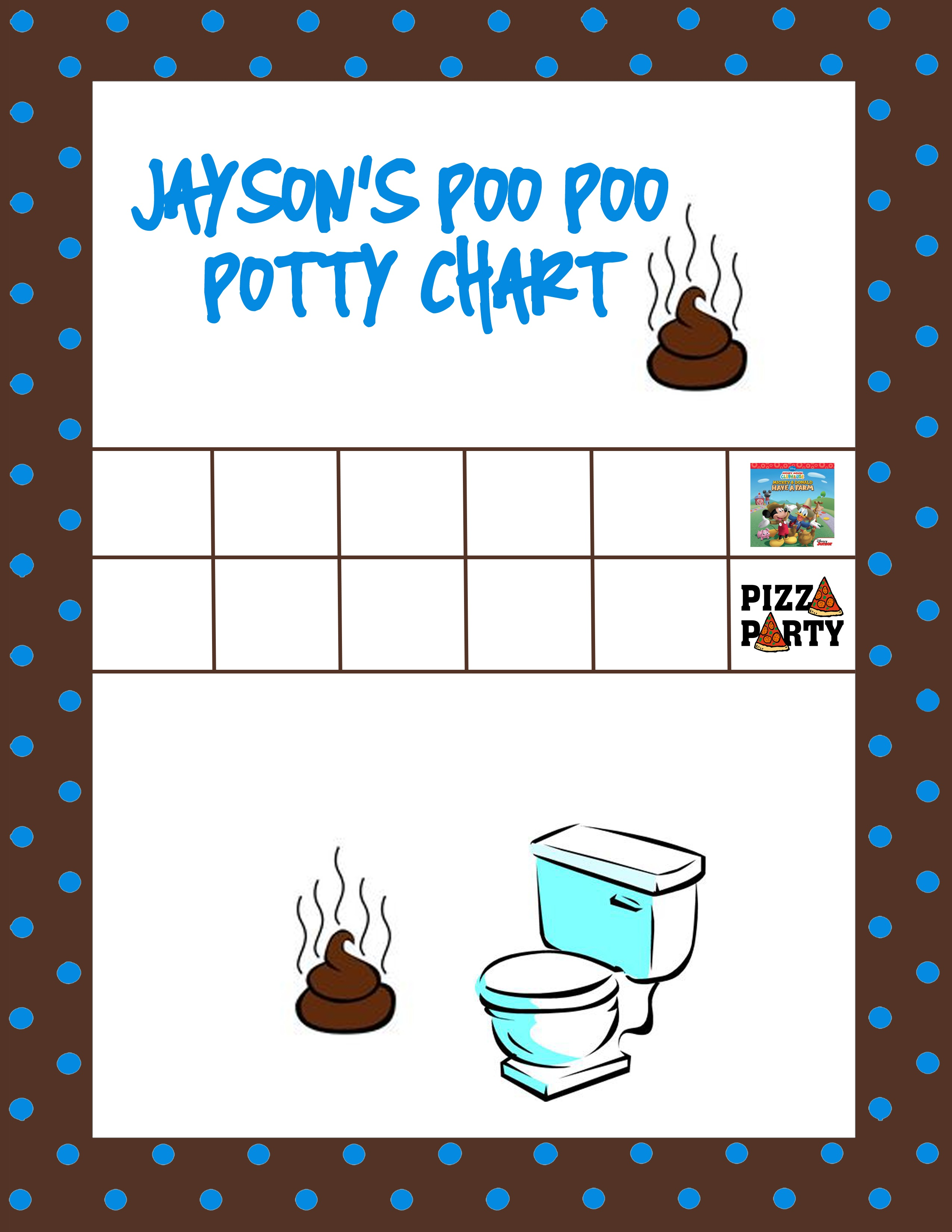 Poop chart for potty training video